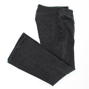 Chico's Platinum black high rise bootcut jeans